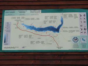 Lacul Roșu - panou de prezentare